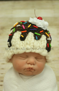 sundae knitted hat